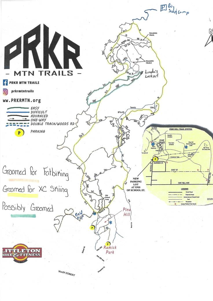 parker winter fat bike map